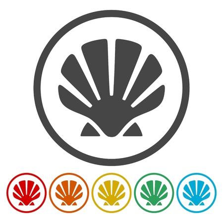 Sea Shell silhouet pictogrammen instellen