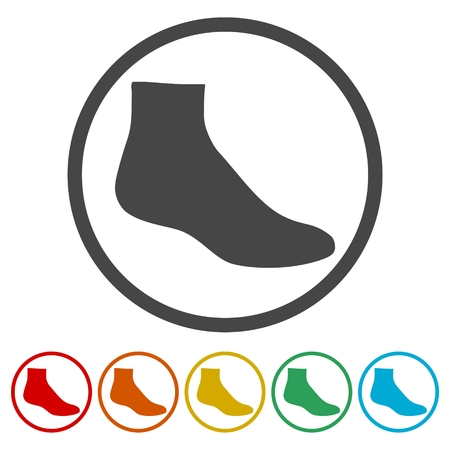Socks icons set - vector Illustration