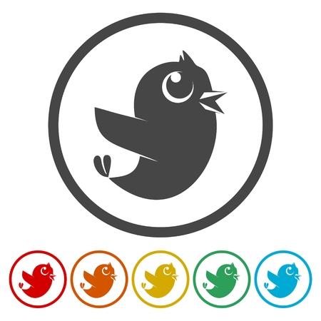 Bird Icons set Flat Graphic Design - Illustration