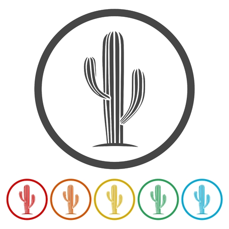 Cactus Collection icons set - Vector Illustration Illustration