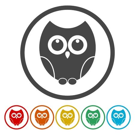 Owl icons set - Illustration 矢量图像