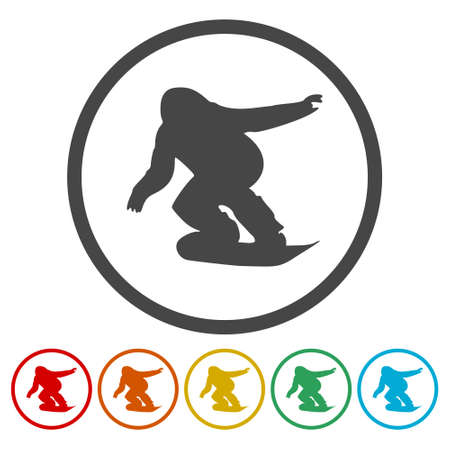Snowboard Icons set - vector Illustration Banque d'images - 104701620