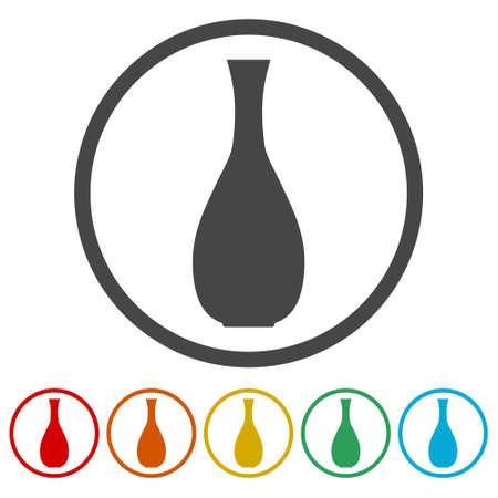 Vase icons set - vector Illustration 向量圖像