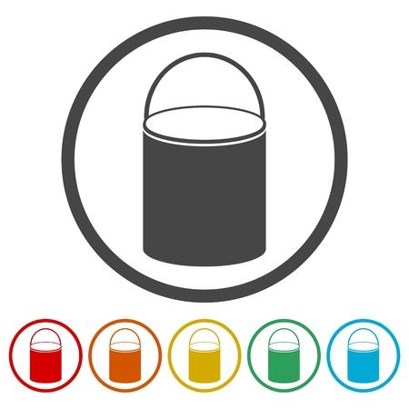 Water bucket vector illustration Ilustración de vector