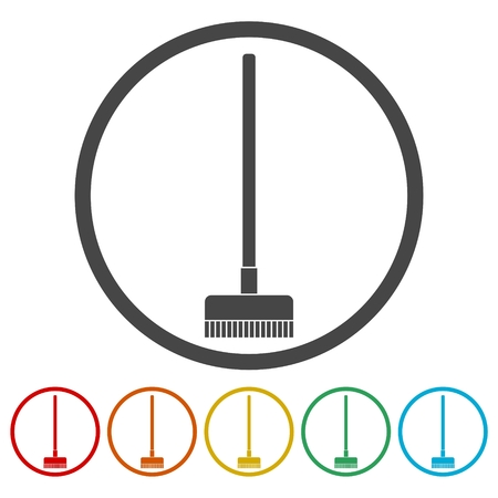 Floor brush icons set Иллюстрация