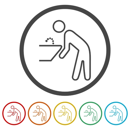 Water Fountain icons set - Illustration 向量圖像