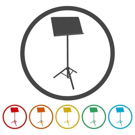 Music Stand Vector Silhouette - Illustration Illustration