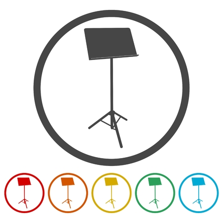 Music Stand Vector Silhouette - Illustration Illustration