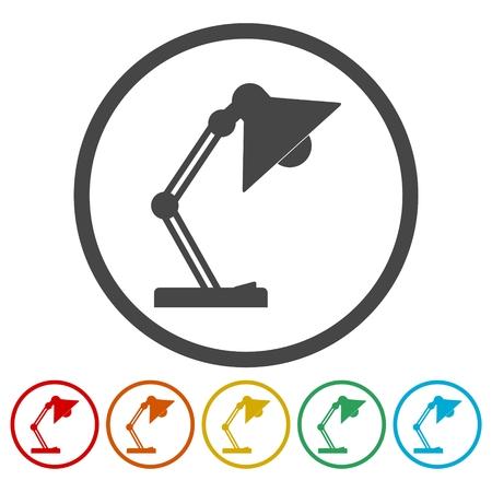 Lamp vector icons set Illustration