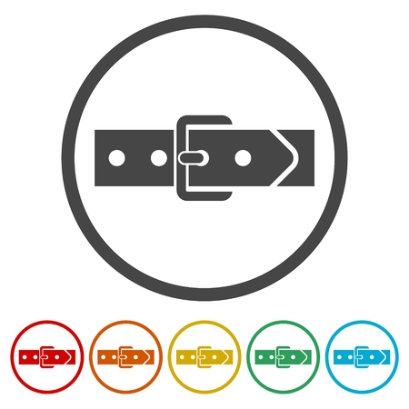 Belt icons set - vector Illustration