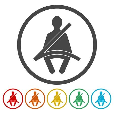 Seat Belt icons set - vector Illustration