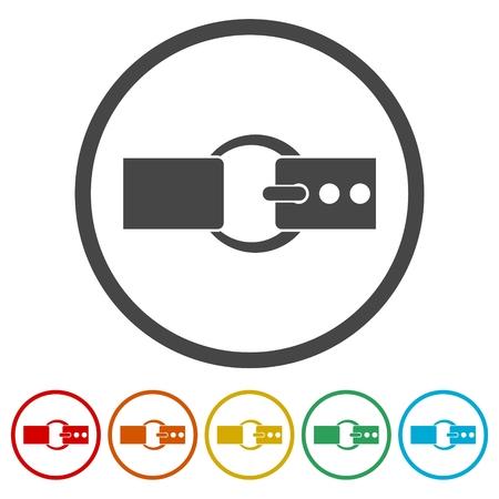 Belt icons set - vector Illustration Vektorové ilustrace
