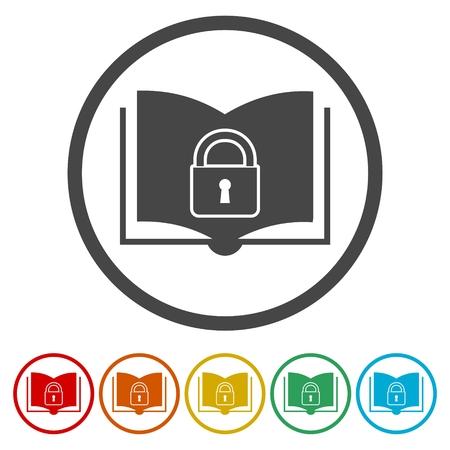 Secured Documents icons set - Illustration