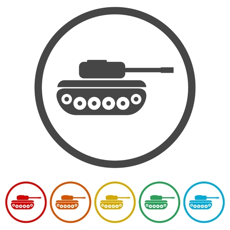 Tank Icons set Flat Graphic Design - Illustration