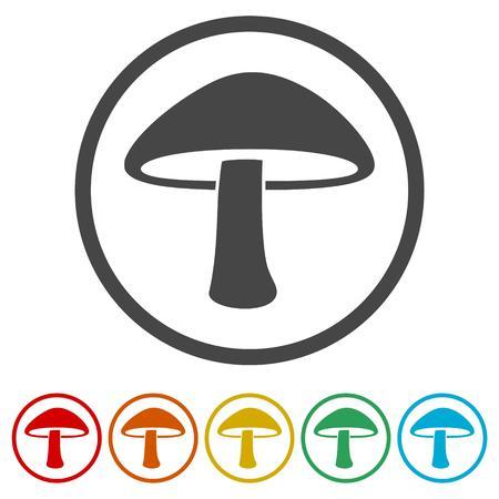 Mushroom Icons set Flat Graphic Design - Illustration Illusztráció