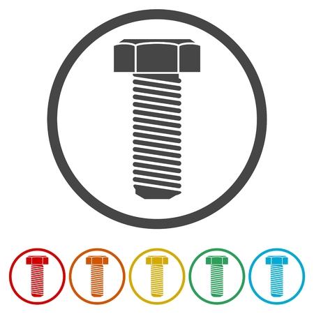 Bolt icons set flat design - Illustration 일러스트