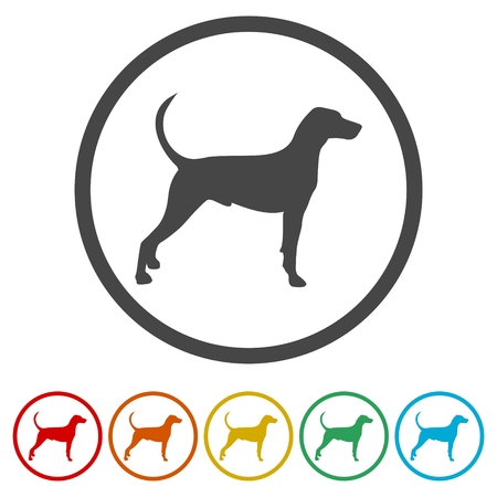 Dog icons set vector silhouette - Illustration Illustration