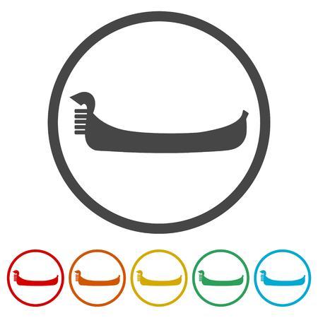 Gondola icons set - Vector Illustration