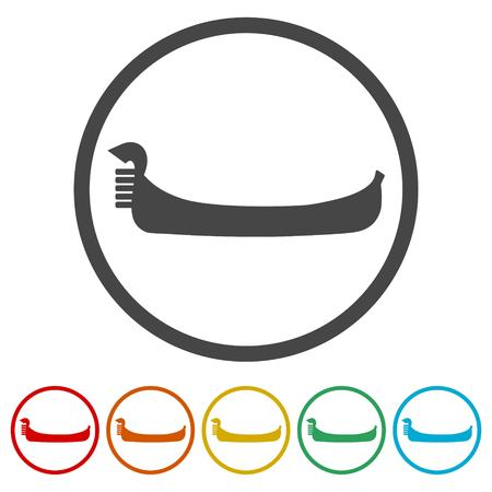 Jeu d'icônes de gondole - Illustration vectorielle