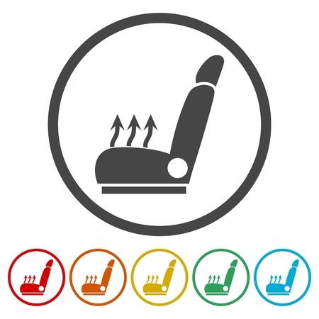 Car seat icons set - Vector Illustration