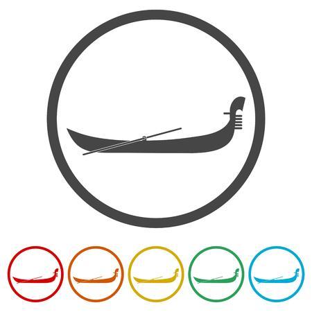 Gondelikonen gesetzt - Vektor-Illustration