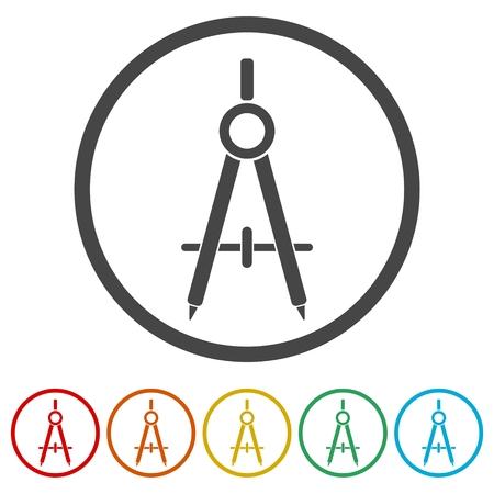 Conjunto de iconos de divisor de escuela - ilustración vectorial