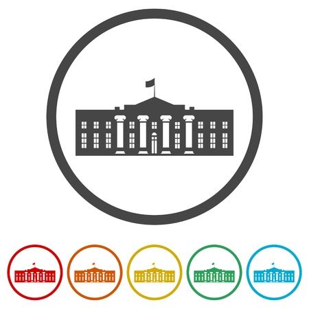 Vector White House icons set - Illustration Illustration