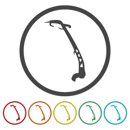 Weed Trimmer Icons set - Illustration Illusztráció
