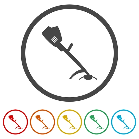 Weed Trimmer Icons set - Illustration Çizim