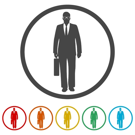 Businessman icons set - Illustration 일러스트