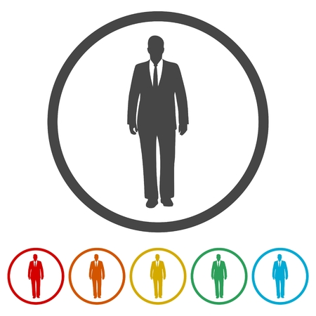 Businessman icons set - Illustration 向量圖像
