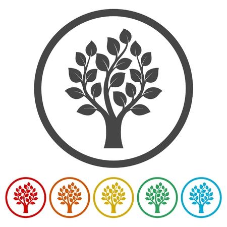 Simple tree icons set - Illustration Иллюстрация