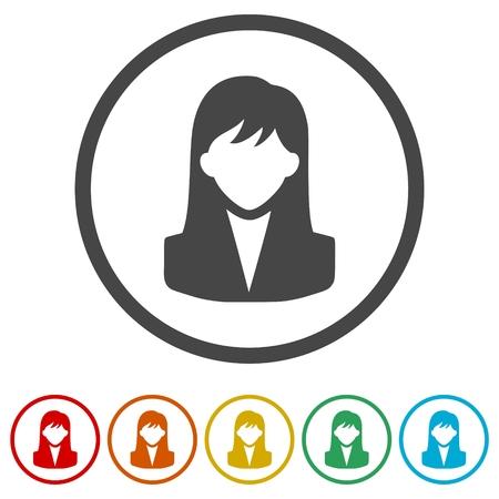 Woman avatar icons set