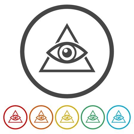 Third eye icons set - Illustration Vector Illustration