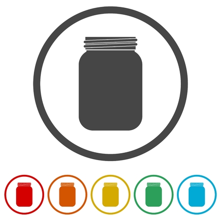 Illustration de jeu d'icônes vectorielles Jam Jar Vecteurs