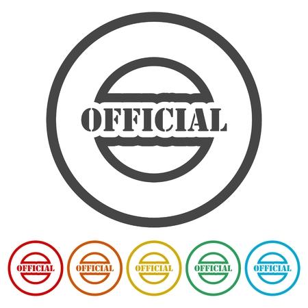 Sello oficial, letrero, logotipo