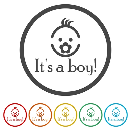 Its a boy icons set - Vector illustration