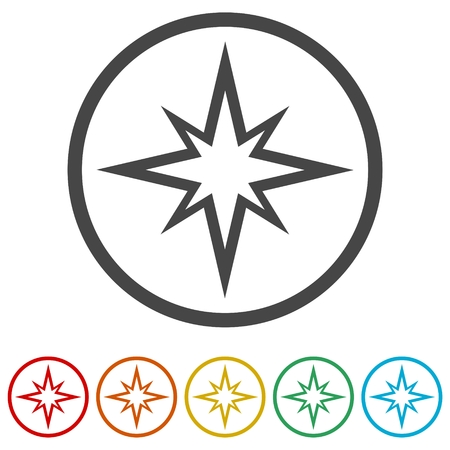 Retro Stars icons set Иллюстрация