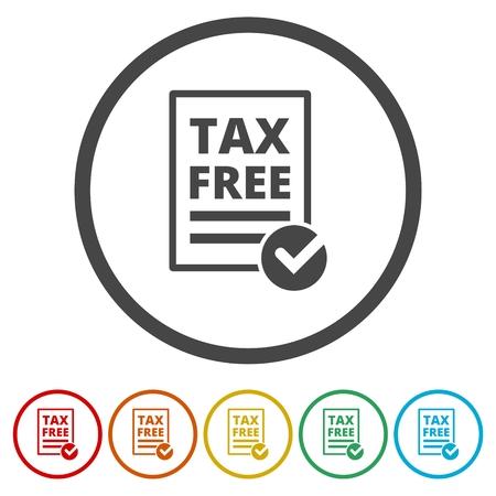 Vector tax icon set - Illustration Ilustração