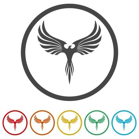 Phoenix design icons set - Illustration  イラスト・ベクター素材
