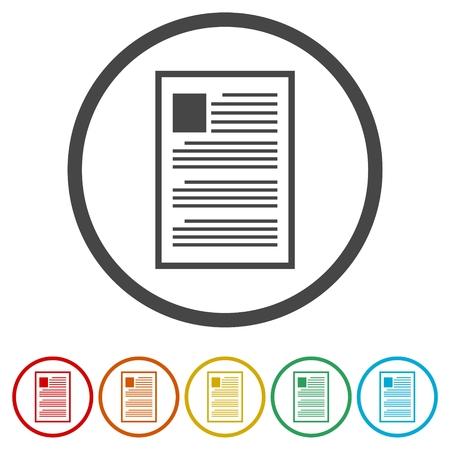 Vector Document Icons set - Illustration