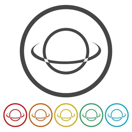 Vector globe icons set Vectores