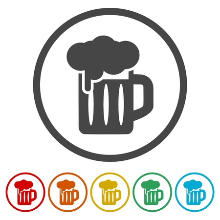 Glass of Beer icons set
