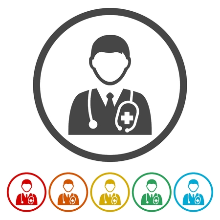 Doctor Icons set - Illustration Vettoriali