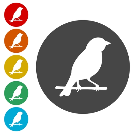 Bird icons set - vector Illustration