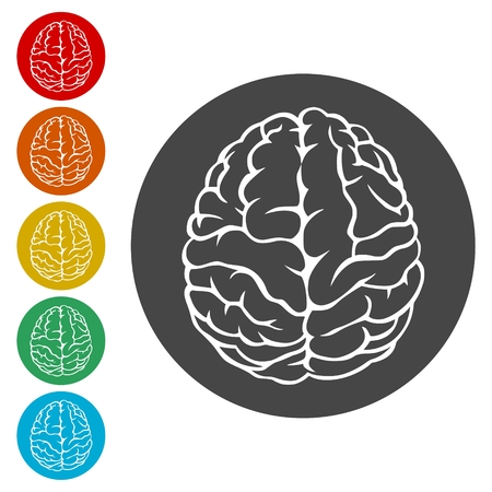 Brain icon symbol set