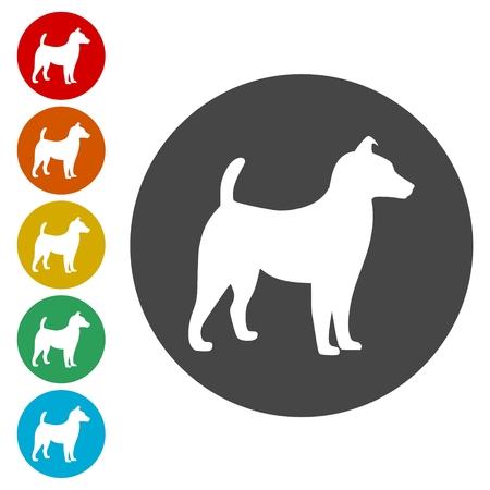 Dog Icons set Illustration
