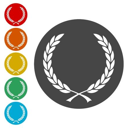 Vector Laurel Wreath icons set - Illustration