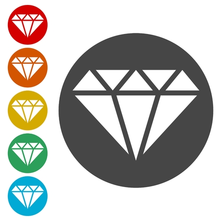 Diamond Icons set - vector Illustration