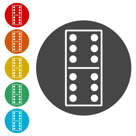 Dominoes vector icons set